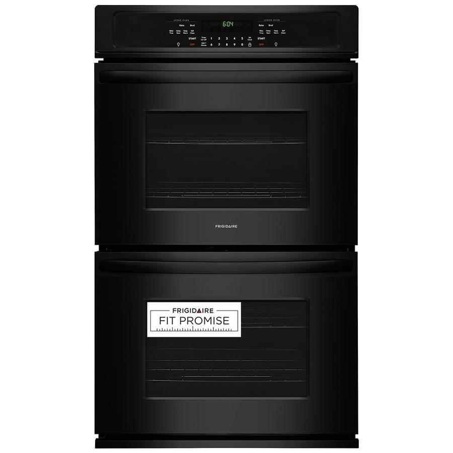 Frigidaire Self-Cleaning Double Electric Wall Oven (Black) (Common: 27-in; Actual: 27-in)