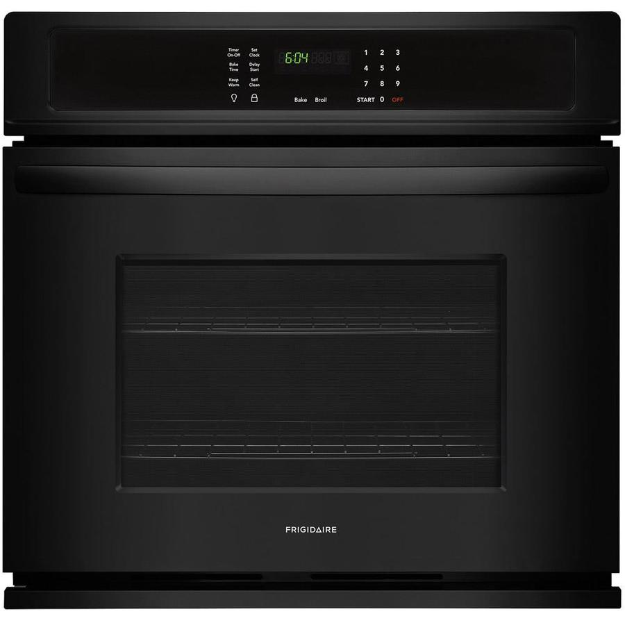 Frigidaire Self-cleaning Single Electric Wall Oven (Black) (Common: 27-in; Actual 27-in)