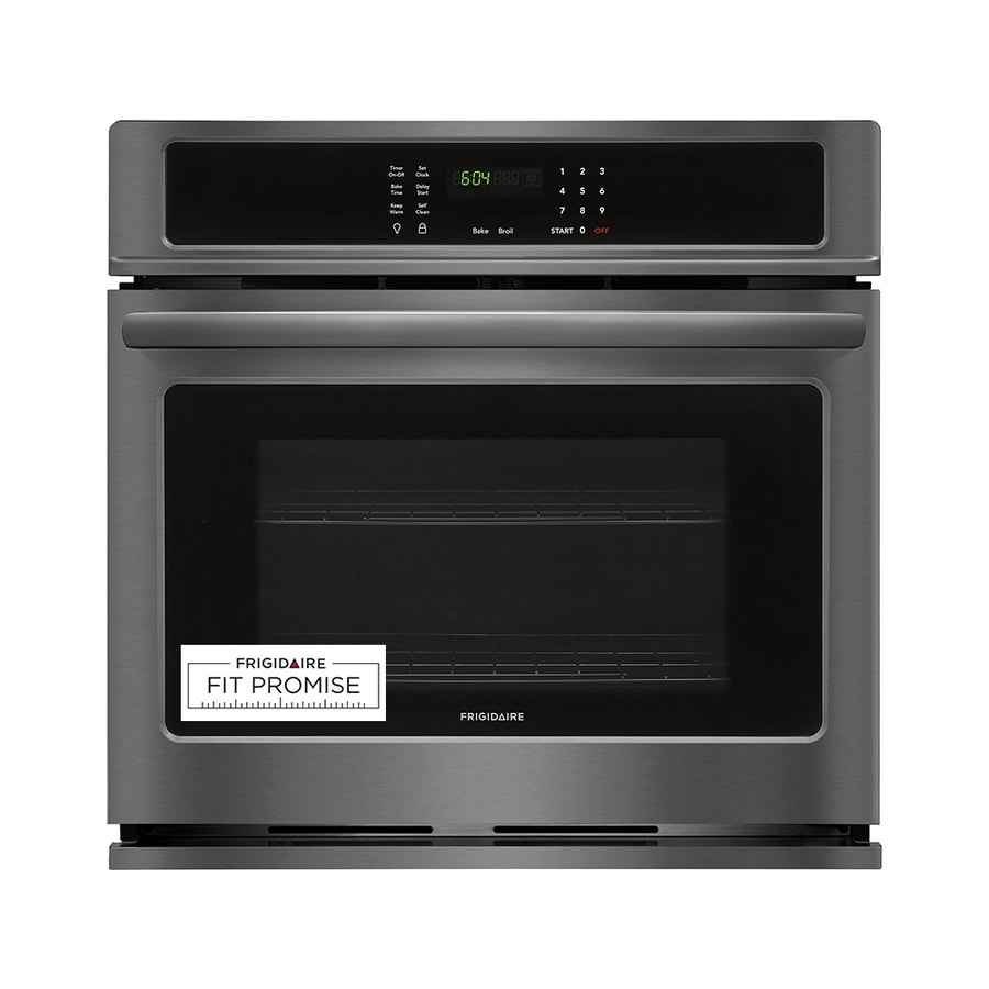 Frigidaire Self-cleaning Single Electric Wall Oven (Black Stainless Steel) (Common: 30 Inch; Actual 30-in)