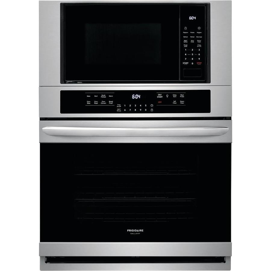 Frigidaire Gallery Self Cleaning True Convection Microwave Wall Oven Combo Stainless Steel 30 Inch Actual 28 25 In