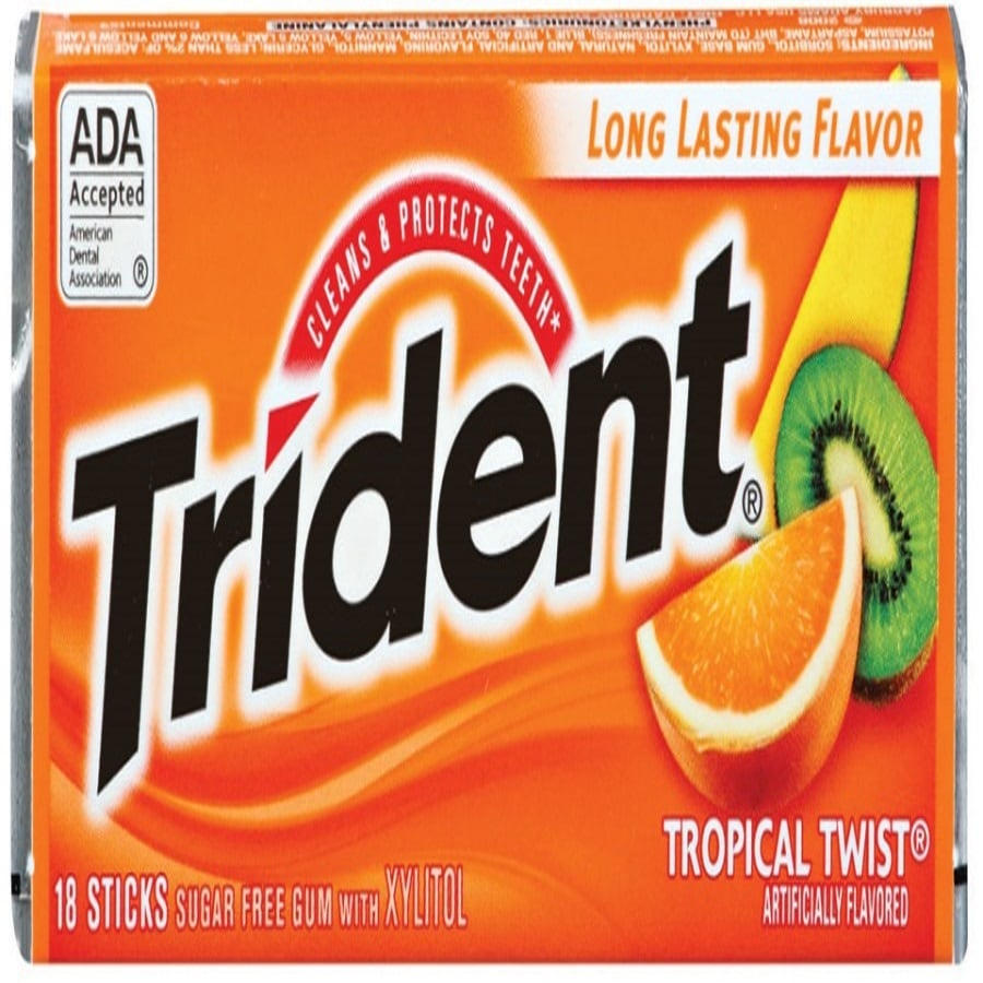 Trident 1-oz Tropical Twist Chewing Gum