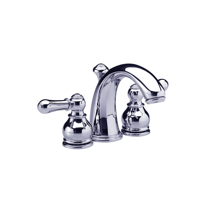 Shop American Standard Hampton Polished Chrome 2 Handle 4 In Mini Widespread Watersense Labeled