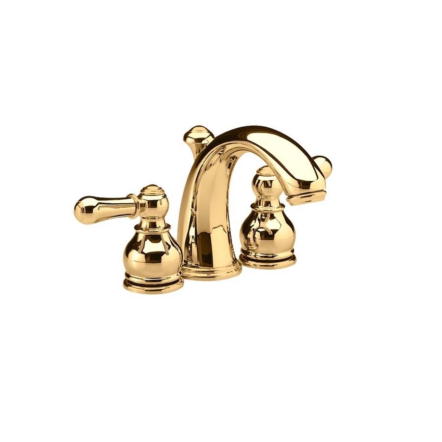Shop American Standard Hampton Polished Brass 2-Handle 4-in Mini ...