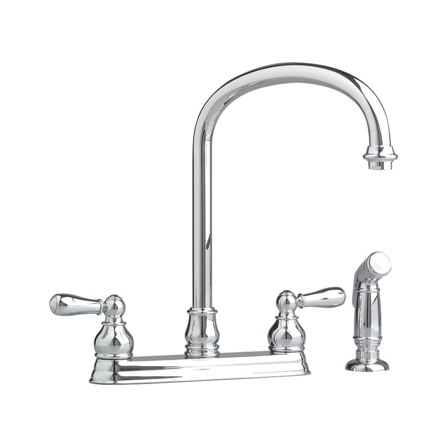 American Standard Hampton Polished Chrome 2-Handle Deck Mount High-Arc Kitchen Faucet