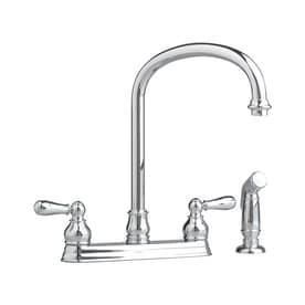 american standard mesa faucet reviews impressive american standard hampton polished chrome 2handle deck mount higharc kitchen faucet shop faucets at lowescom