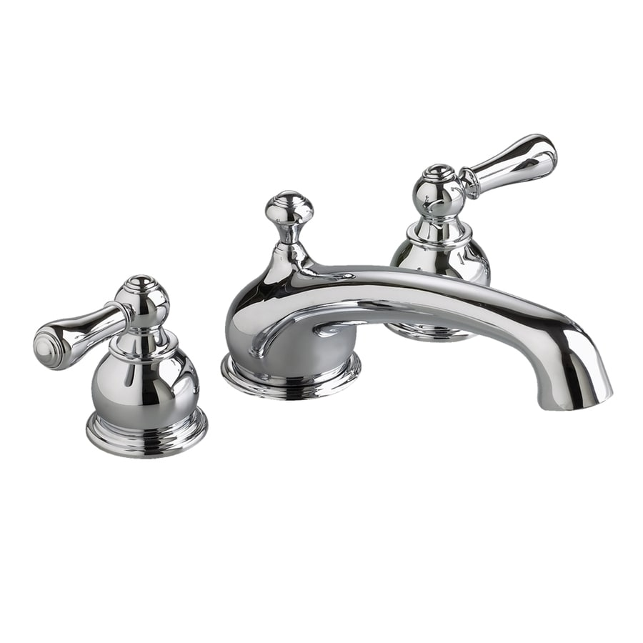 American Standard Hampton Polished Chrome 2-Handle Fixed Deck Mount Tub Faucet
