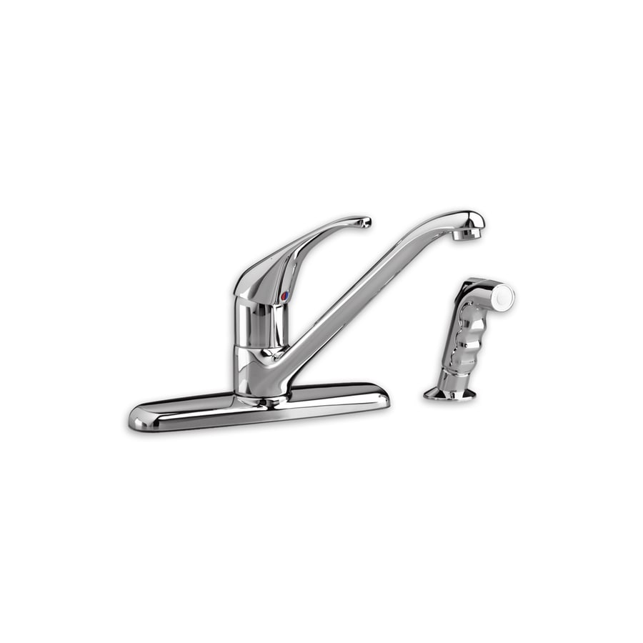 American Standard Reliant Polished Chrome 1-Handle Low-Arc Kitchen Faucet with Side Spray