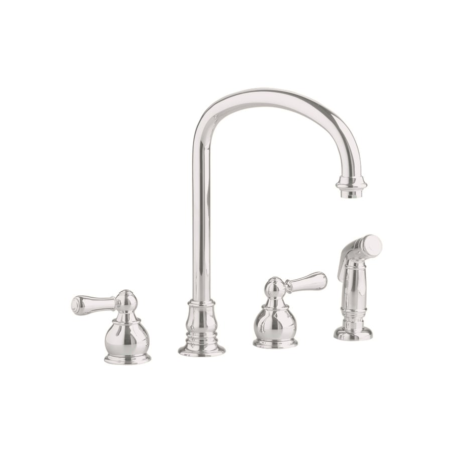 American Standard Hampton Satin Nickel 2-Handle Deck Mount High-Arc Kitchen Faucet