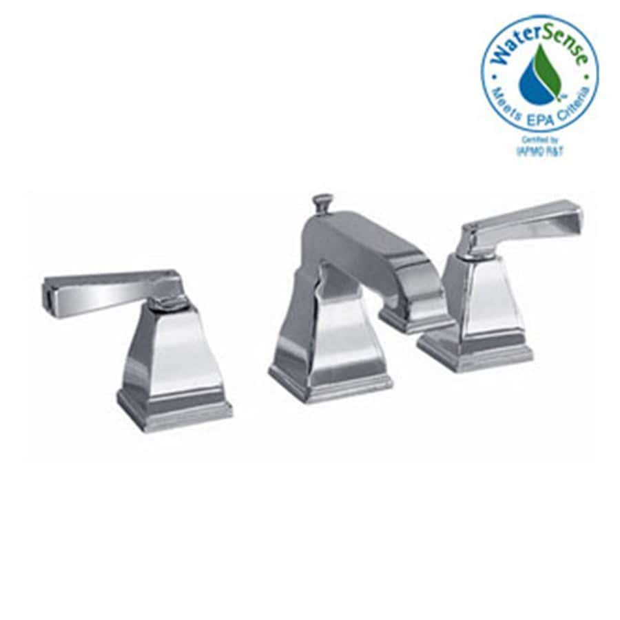 American Standard Town Square Satin Nickel 2-Handle Widespread WaterSense Bathroom Faucet (Drain Included)
