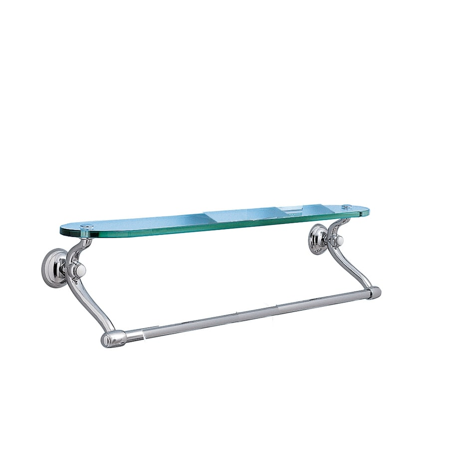 American Standard 24 Chrome Towel Bar With Glass Shelf At Lowescom