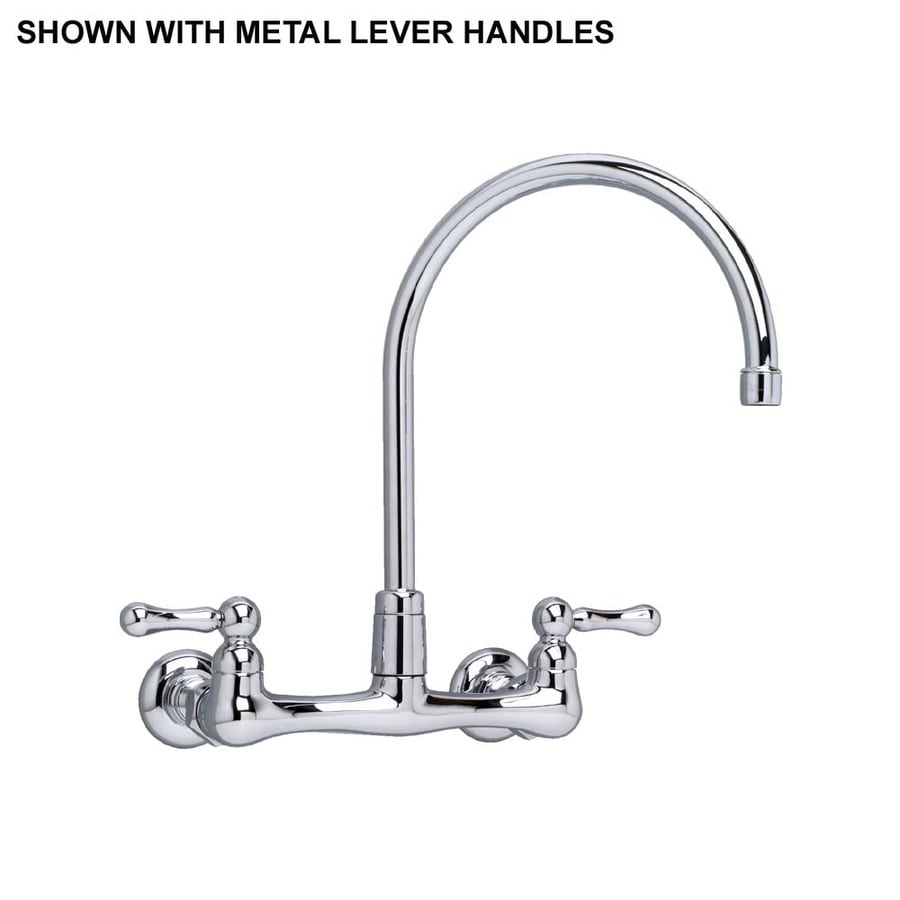 Shop American Standard Amarlis Polished Chrome 2 Handle Wall Mount High Arc Kitchen Faucet At