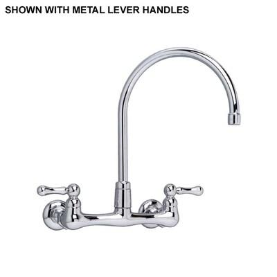 Amarlis Polished Chrome 2-handle Wall Mount High-arc Kitchen Faucet