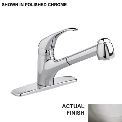 Reliant+ Stainless Steel 1-Handle Deck Mount Pull-out  Commercial/Residential Kitchen Faucet