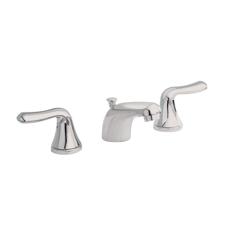 American Standard Colony Satin Nickel 2-Handle Widespread WaterSense Bathroom Faucet (Drain Included)