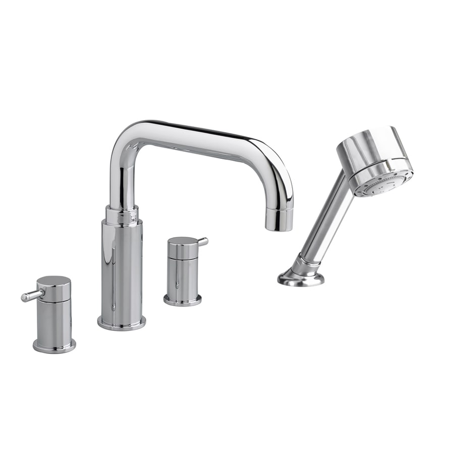 American Standard Serin Polished Chrome 2-Handle Deck Mount Bathtub Faucet