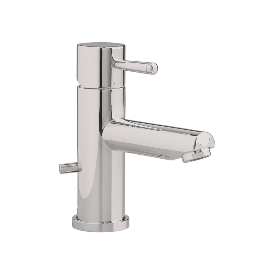 American Standard Serin Satin Nickel 1-Handle Single Hole WaterSense Bathroom Faucet (Drain Included)