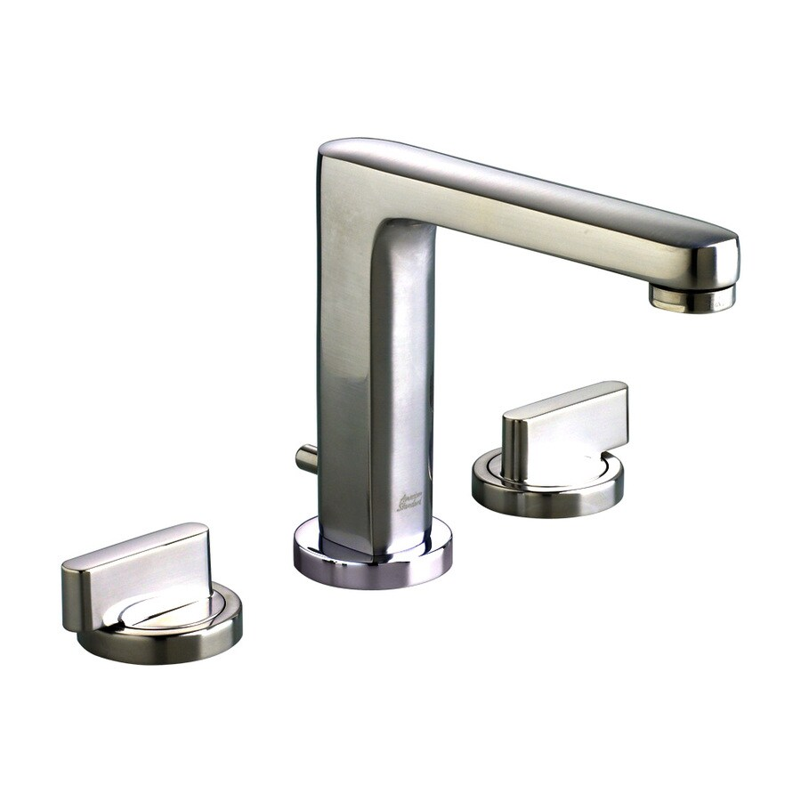 American Standard Moments Polished Chrome 2-Handle Widespread WaterSense Bathroom Faucet (Drain Included)