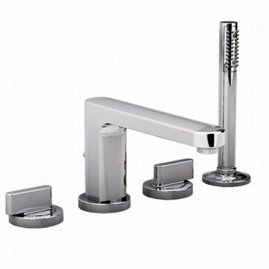 American Standard Moments Polished Chrome 2-Handle Handle(S) Included Fixed Deck Mount Bathtub Faucet
