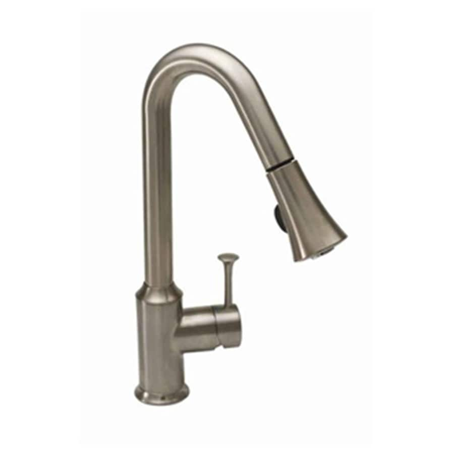 Shop American Standard Pekoe Stainless Steel 1 Handle Pull Down Deck Mount Kitchen Faucet At