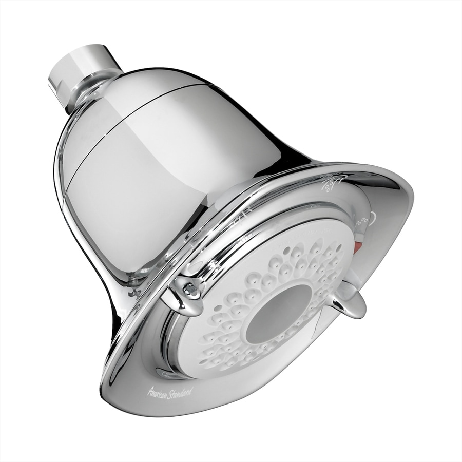 American Standard FloWise 4.625-in 2.0-GPM (7.6-LPM) Polished Chrome 3-Spray WaterSense Showerhead