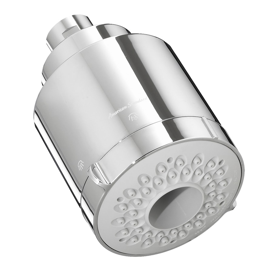 American Standard Flowise 3.5-in 2.0-GPM (7.6 Lpm) Polished Chrome 3-Spray WaterSense Showerhead
