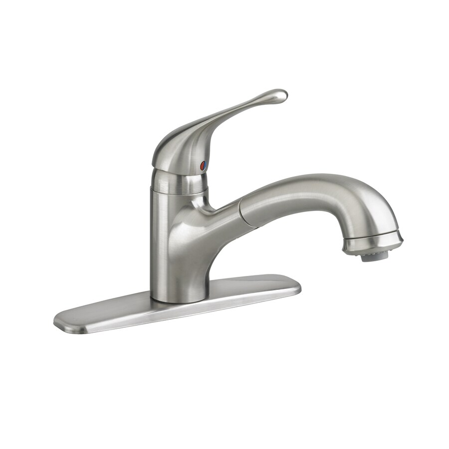 American Standard Colony Stainless Steel 1-Handle Deck Mount Pull-Out Kitchen Faucet
