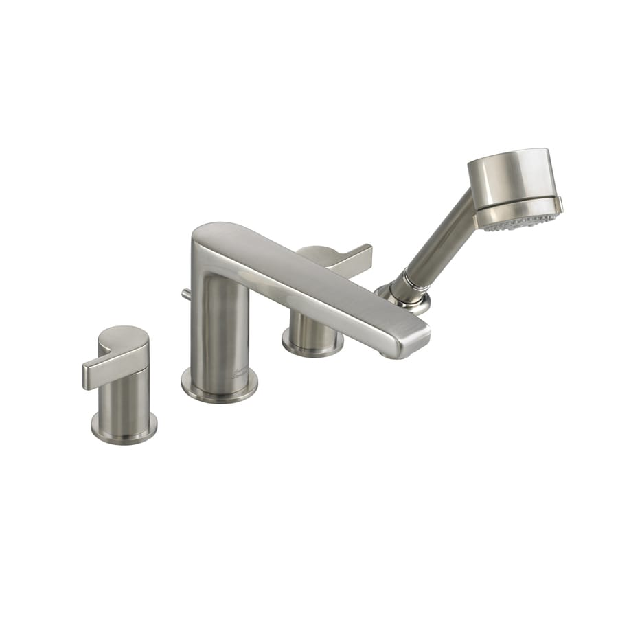 American Standard Studio Satin Nickel 2-Handle Deck Mount Bathtub Faucet