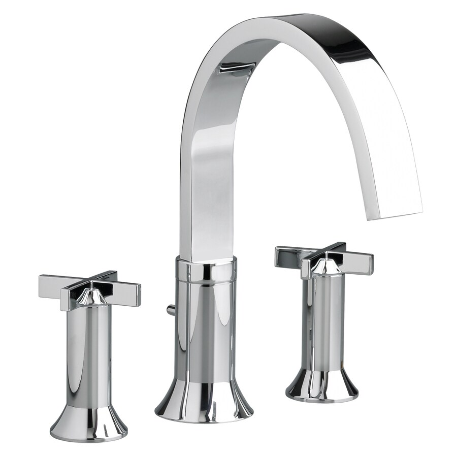 American Standard Berwick Polished Chrome 2-Handle Fixed Deck Mount Bathtub Faucet
