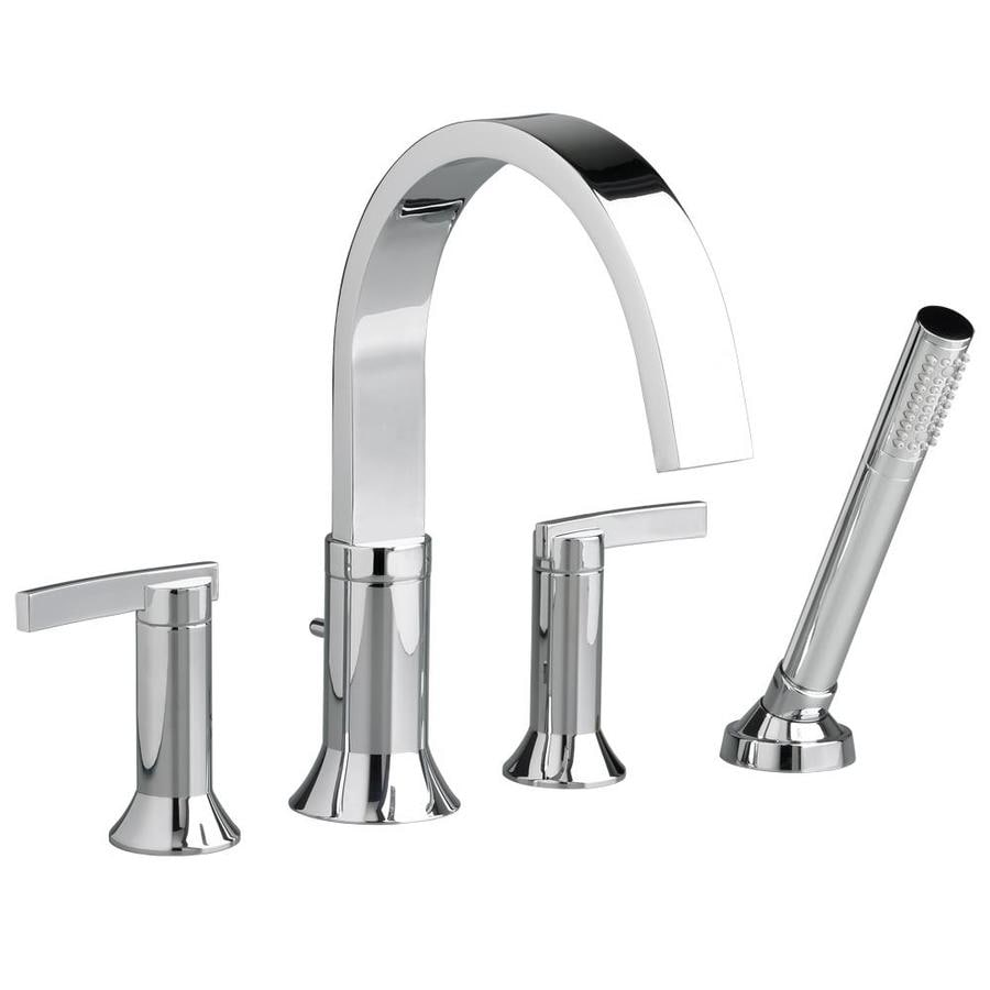 Shop American Standard Berwick Polished Chrome 2 Handle Deck Mount Bathtub Faucet At