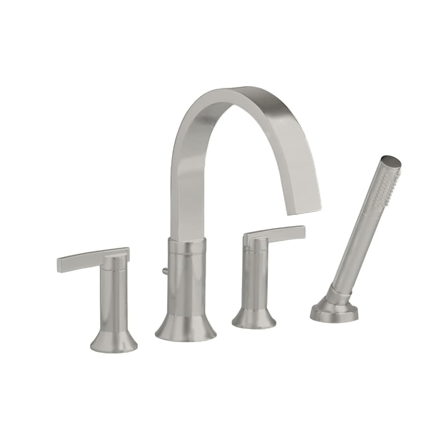 Shop American Standard Berwick Satin Nickel 2 Handle Deck Mount Bathtub Faucet At