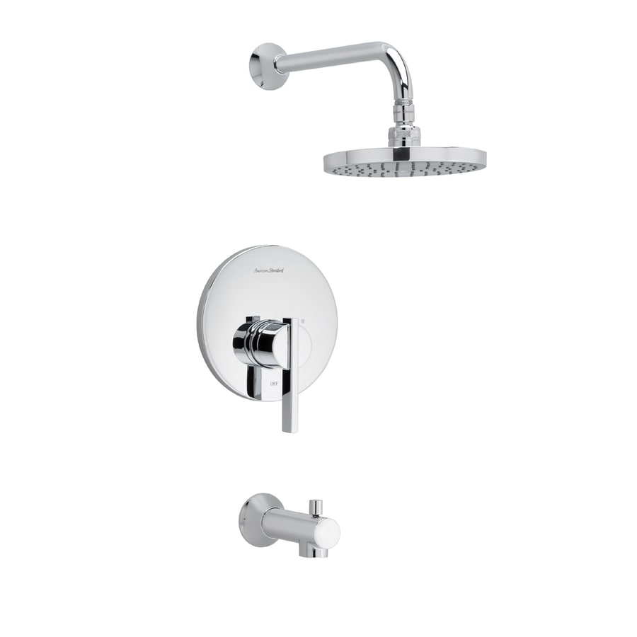 American Standard Berwick Polished Chrome 1-Handle Bathtub and Shower Faucet Trim Kit with Rain Showerhead