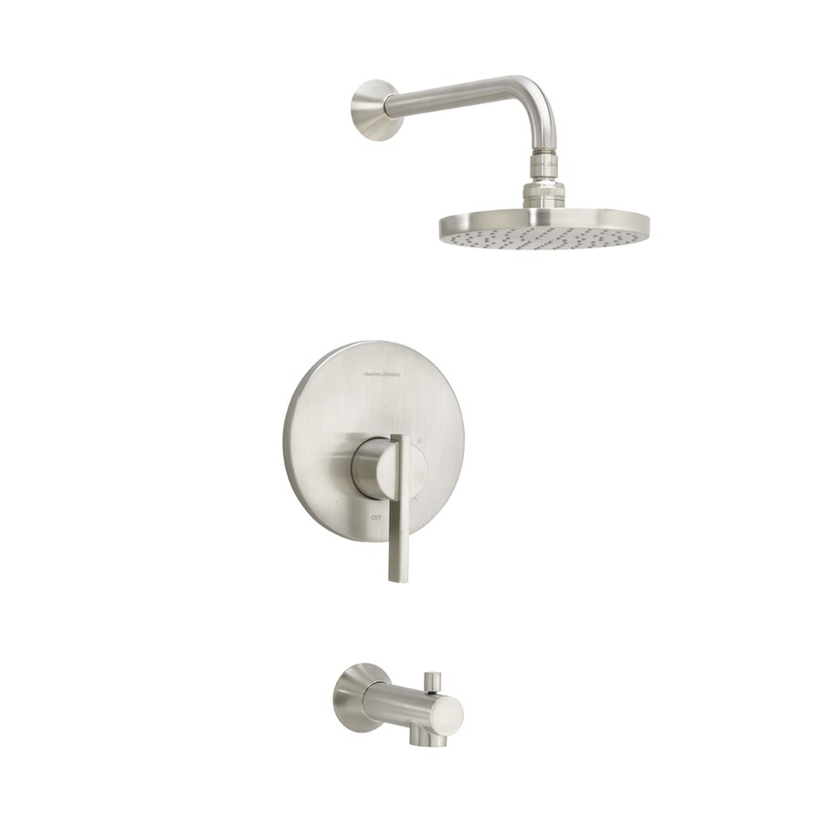 American Standard Berwick Satin Nickel 1-Handle Bathtub and Shower Faucet Trim Kit with Rain Showerhead