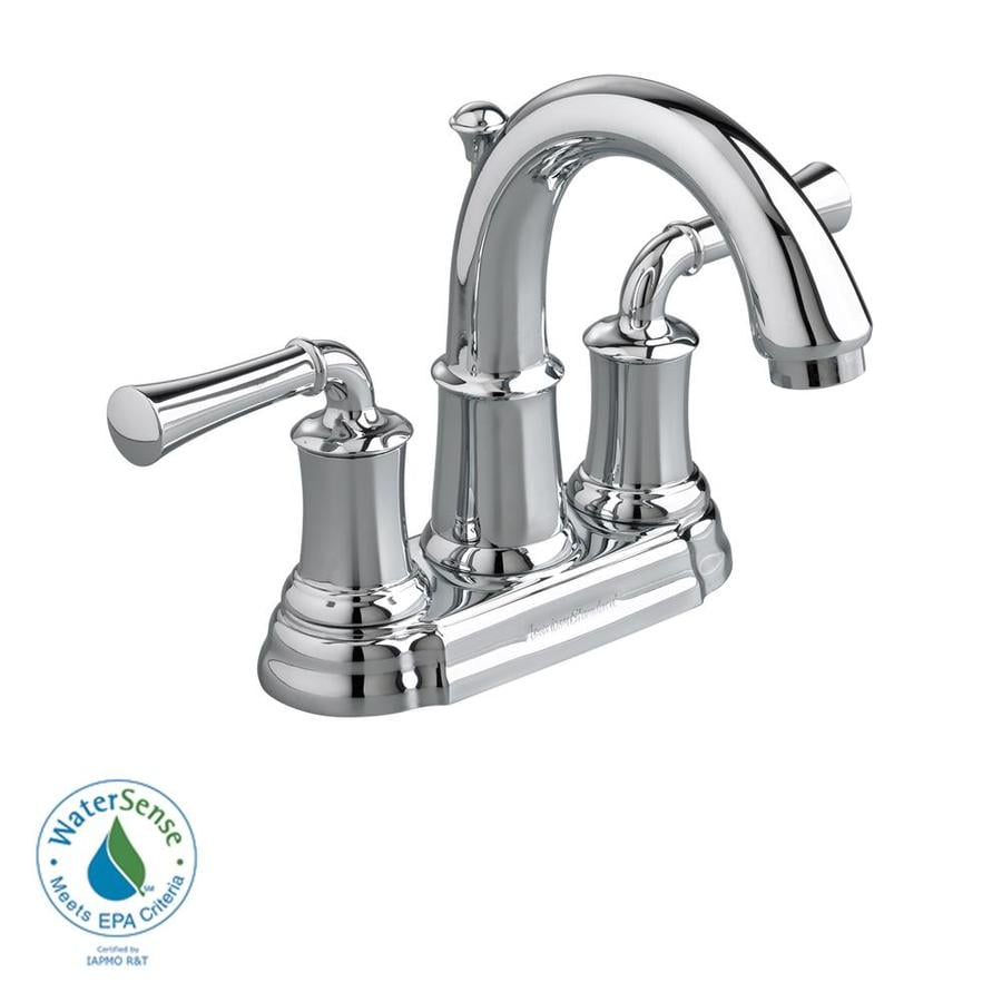 Shop American Standard Portsmouth Polished Chrome 2 Handle 4 In Centerset Watersense Bathroom
