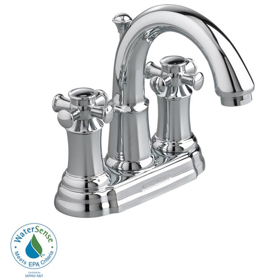 American Standard Portsmouth Polished Chrome 2-Handle 4-in Centerset WaterSense Bathroom Faucet (Drain Included)