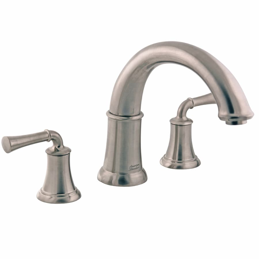 Shop American Standard Portsmouth Satin Nickel 2 Handle Deck Mount Bathtub Faucet At