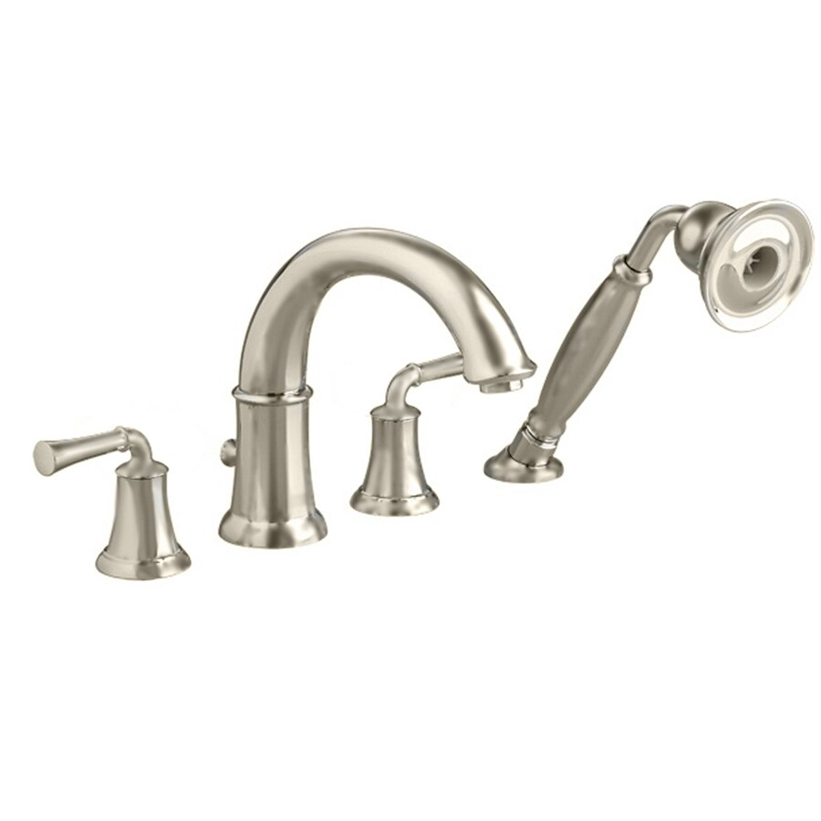 American Standard Portsmouth Satin Nickel 2-Handle Deck Mount Bathtub Faucet