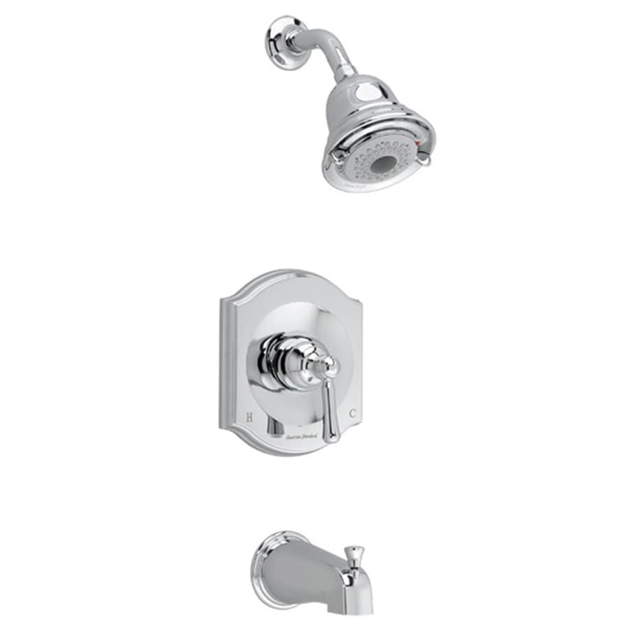 American Standard Portsmouth Polished Chrome 1-Handle Bathtub and Shower Faucet Trim Kit with Multi-Function Showerhead