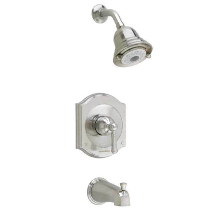 American Standard Portsmouth Satin Nickel 1-Handle Shower Faucet Trim Kit with Multi-Function Showerhead