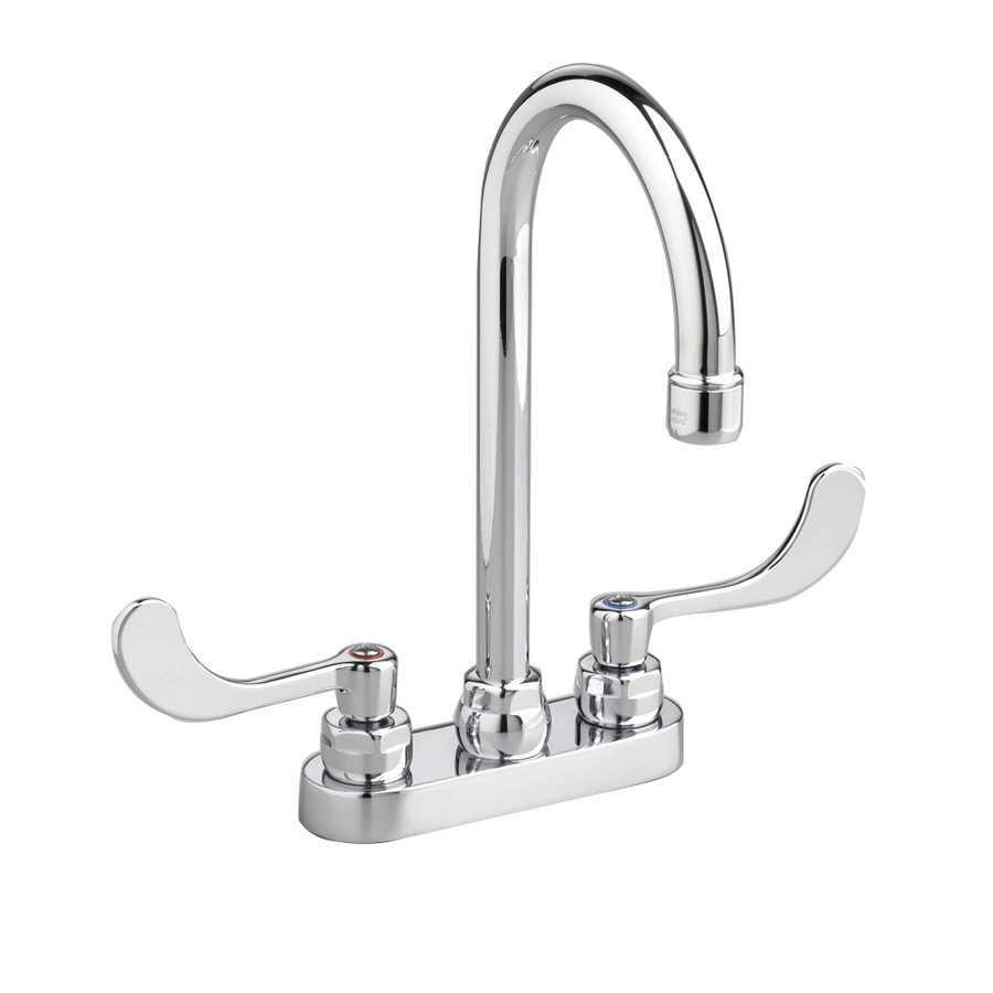 American Standard Monterrey Polished Chrome 2-Handle Single Hole/4-in Centerset Commercial Bathroom Faucet