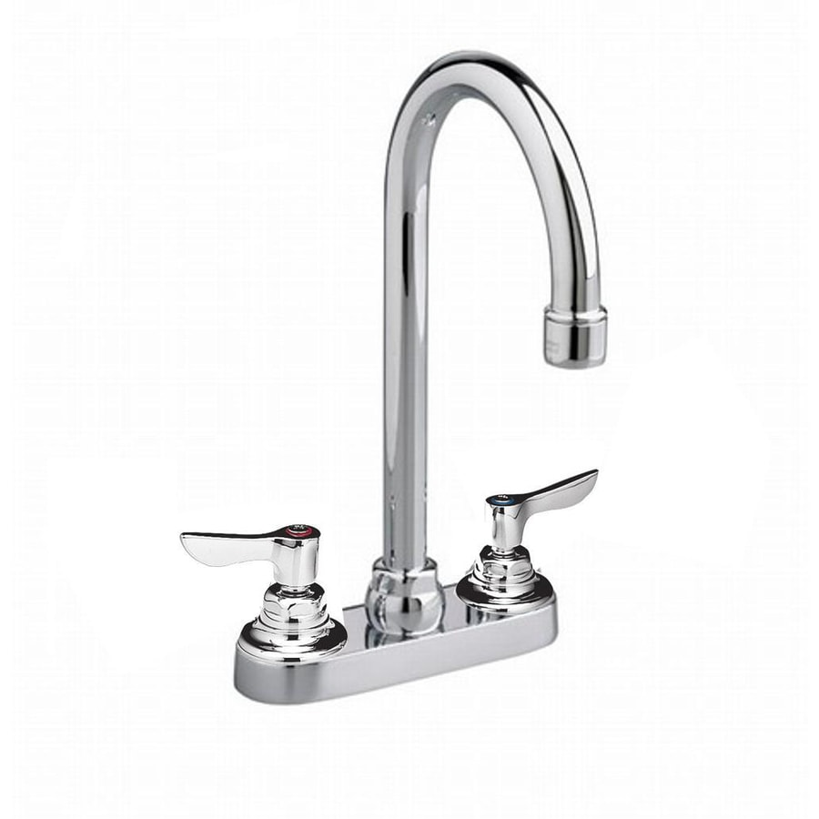 American Standard Monterrey Polished Chrome 2-Handle Handle(S) Included WaterSense Commercial Bathroom Faucet Valve Included Drain Included
