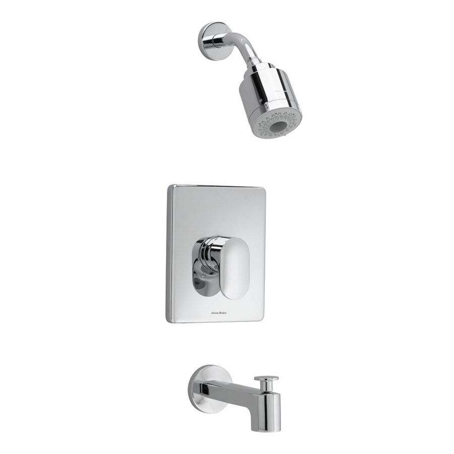 American Standard Moments Polished Chrome 1-Handle Shower Faucet Trim Kit with Multi-Function Showerhead