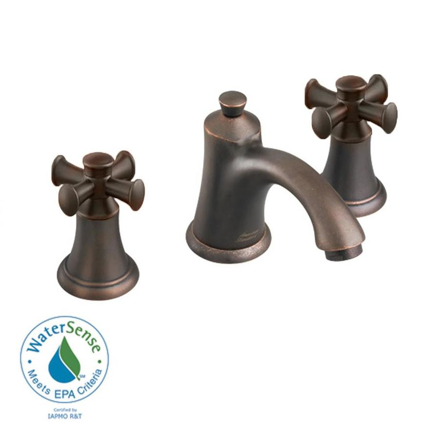 American Standard Portsmouth Oil-Rubbed Bronze 2-Handle Widespread WaterSense Bathroom Sink Faucet (Drain Included)