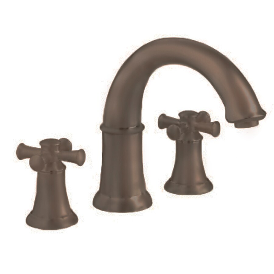 American Standard Portsmouth Oil Rubbed Bronze 2-Handle Handle(S) Included Fixed Deck Mount Bathtub Faucet