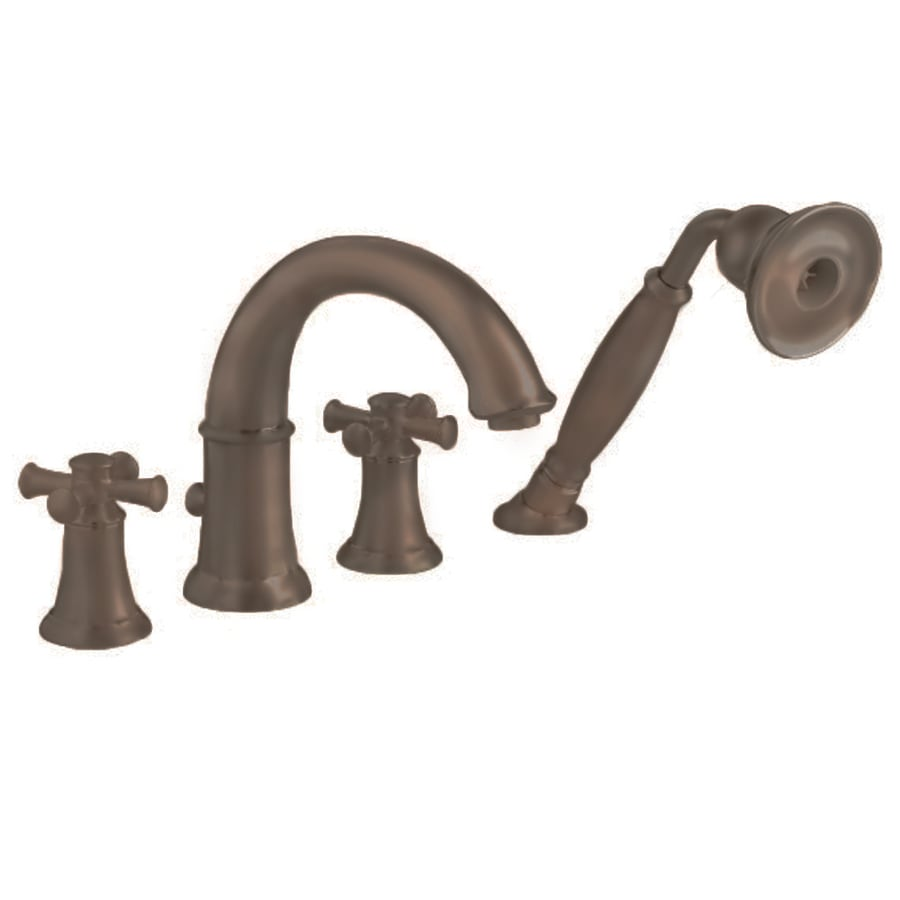 Shop American Standard Portsmouth Oil Rubbed Bronze 2 Handle Deck Mount Bathtub Faucet At