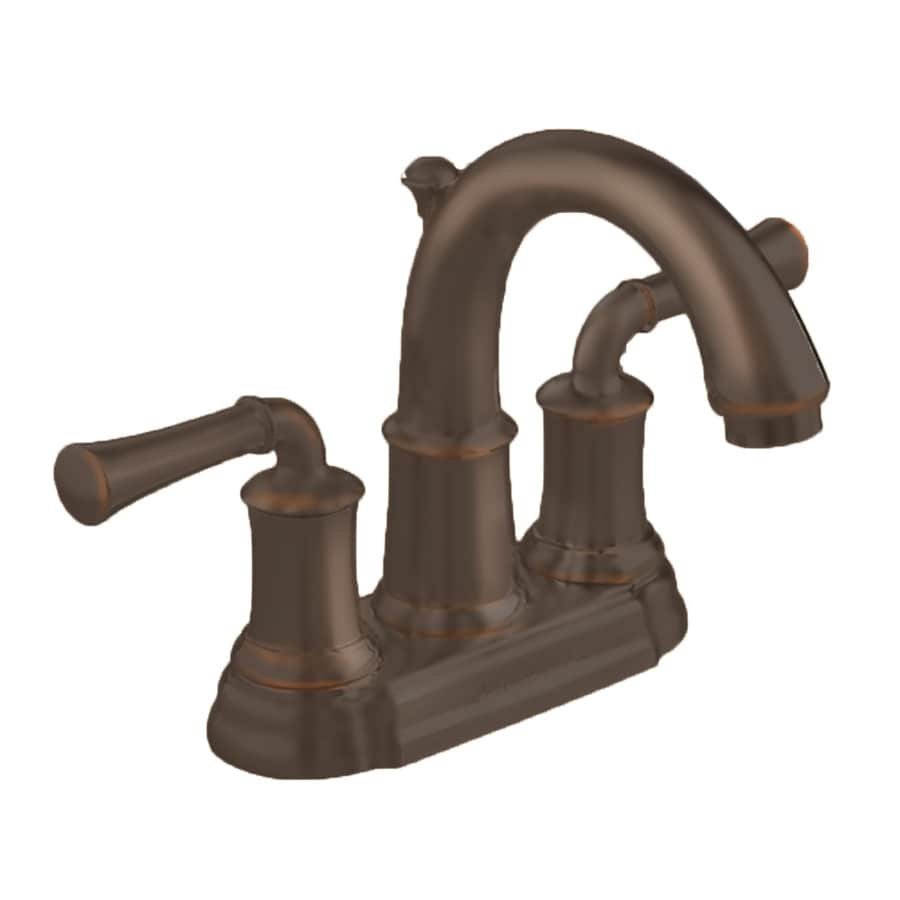 Shop american standard portsmouth oil rubbed bronze 2 handle 4 in centerset bathroom sink faucet for Oil rubbed bronze bathroom faucets