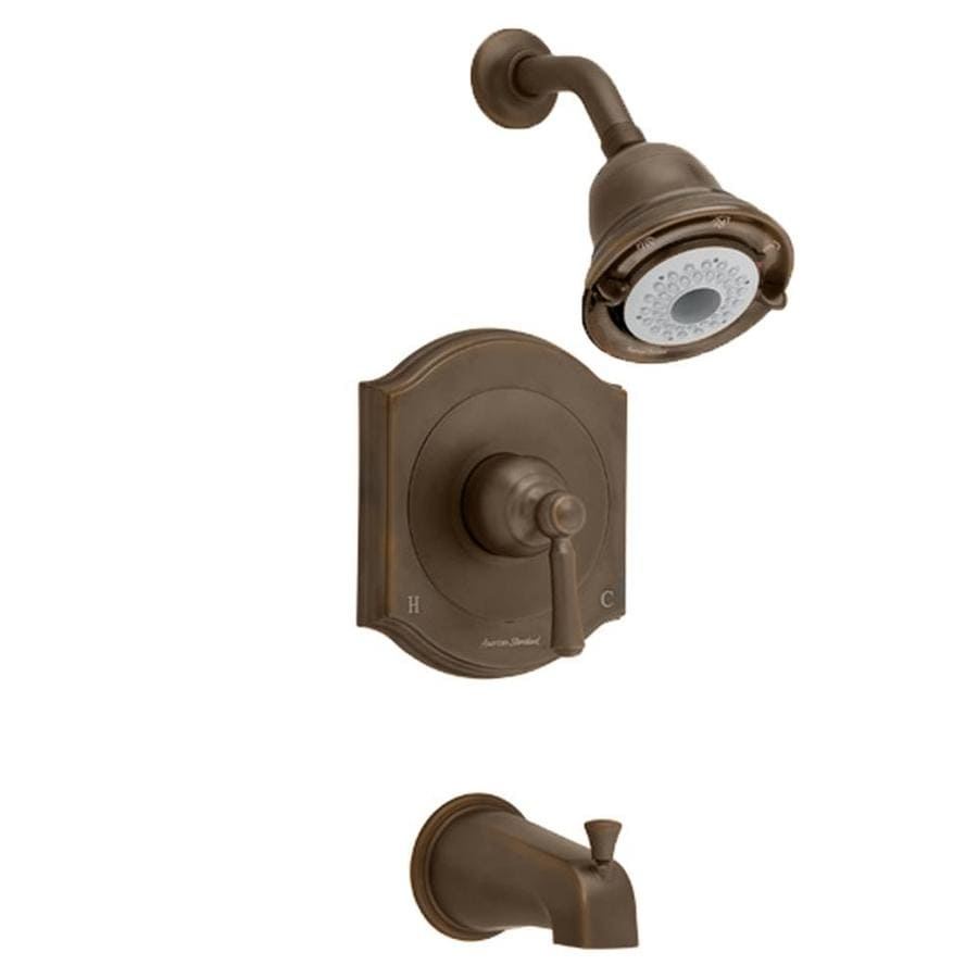 American Standard Portsmouth Oil Rubbed Bronze 1-Handle Bathtub and Shower Faucet Trim Kit with Multi-Function Showerhead