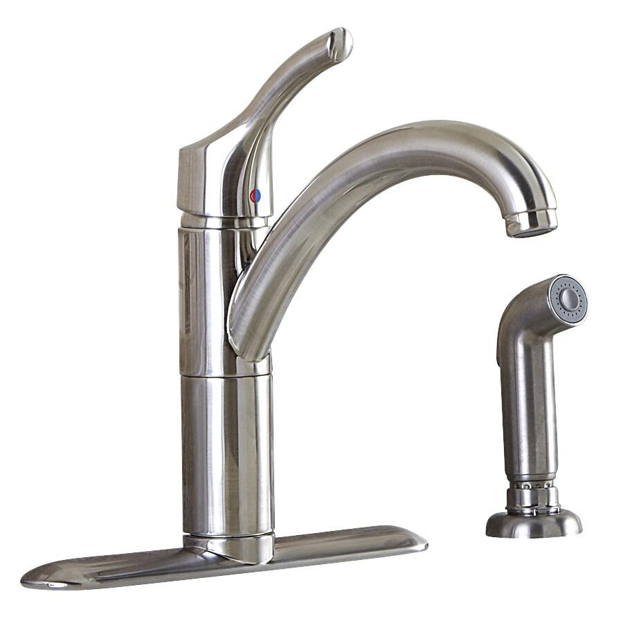 Aquasource Kitchen Faucet: AquaSource Stainless Steel 1-handle High-arc Deck Mount