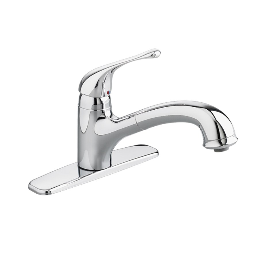American Standard Colony Soft Stainless Steel 1-Handle Deck Mount Pull-Out Kitchen Faucet