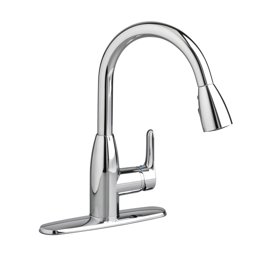 American Standard Colony Soft Polished Chrome 1-Handle Deck Mount Pull-Down Kitchen Faucet
