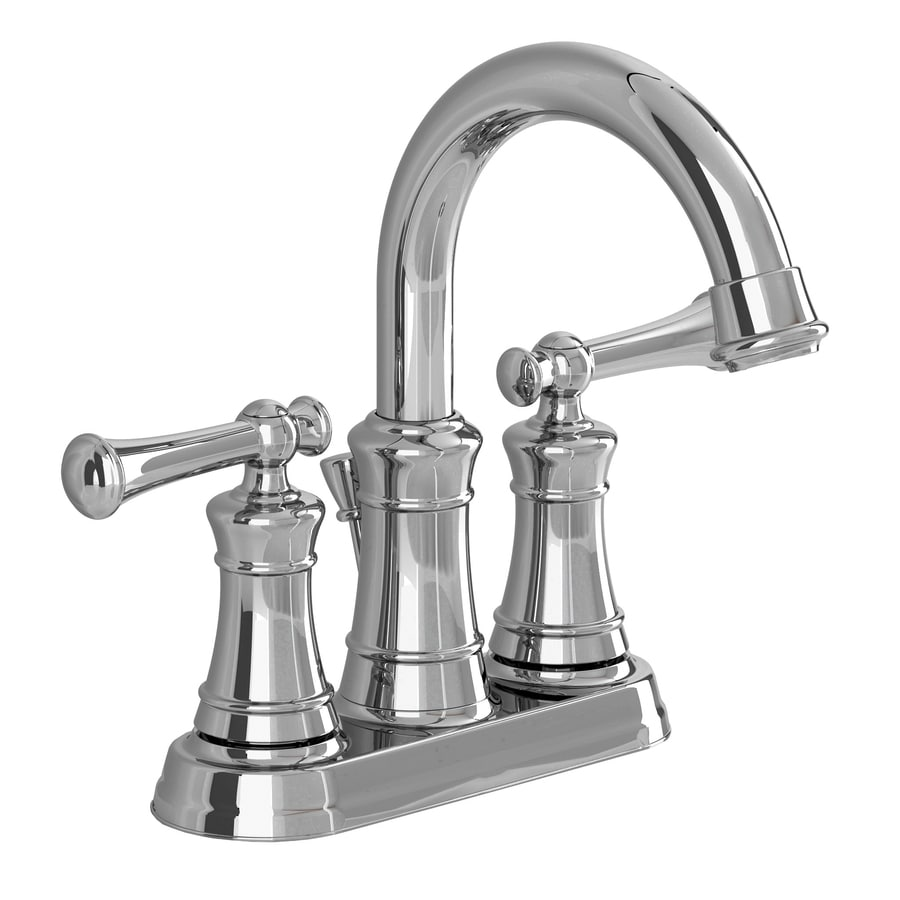 American Standard Emory Chrome 2-Handle 4-in Centerset WaterSense Bathroom Faucet (Drain Included)